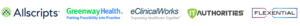 allscripts, greenway health, eclinicalworks, authorities, and flexential icons